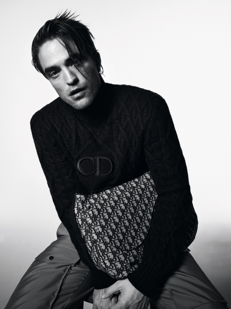 Rocking an edgy hairstyle, Robert Pattinson stars in a photoshoot for Dior magazine.