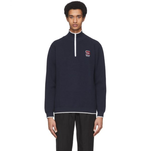 Saturdays NYC Navy Kishino Sweater