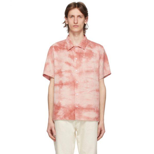 Saturdays NYC Pink Alpons Miner Wash Shirt
