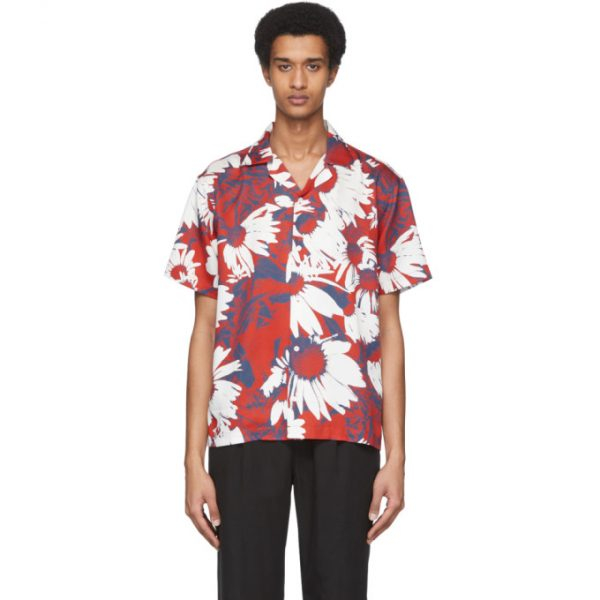 Saturdays NYC Red and Blue Lyocell Canty Daisy Shirt