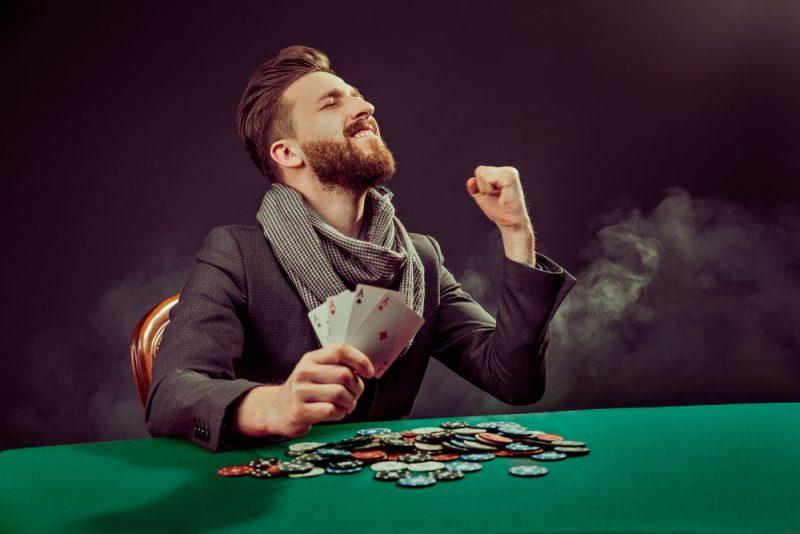 Stylish Man Playing Poker