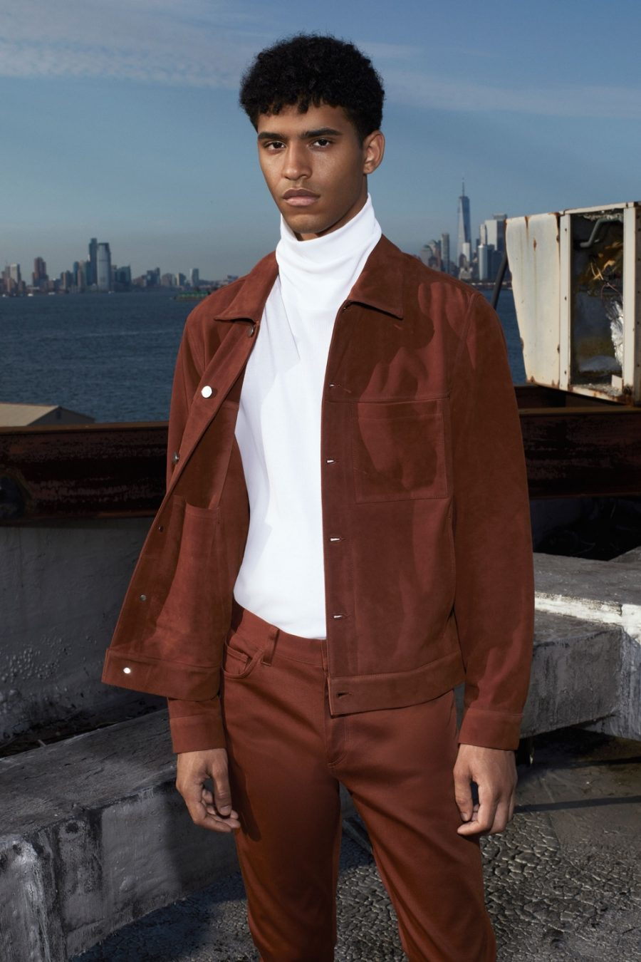 Ryan, Jan & Hector Don Clean Looks from Theory Spring '21 Collection