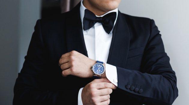 Tuxedo Wearing Man Bow Tie Watch