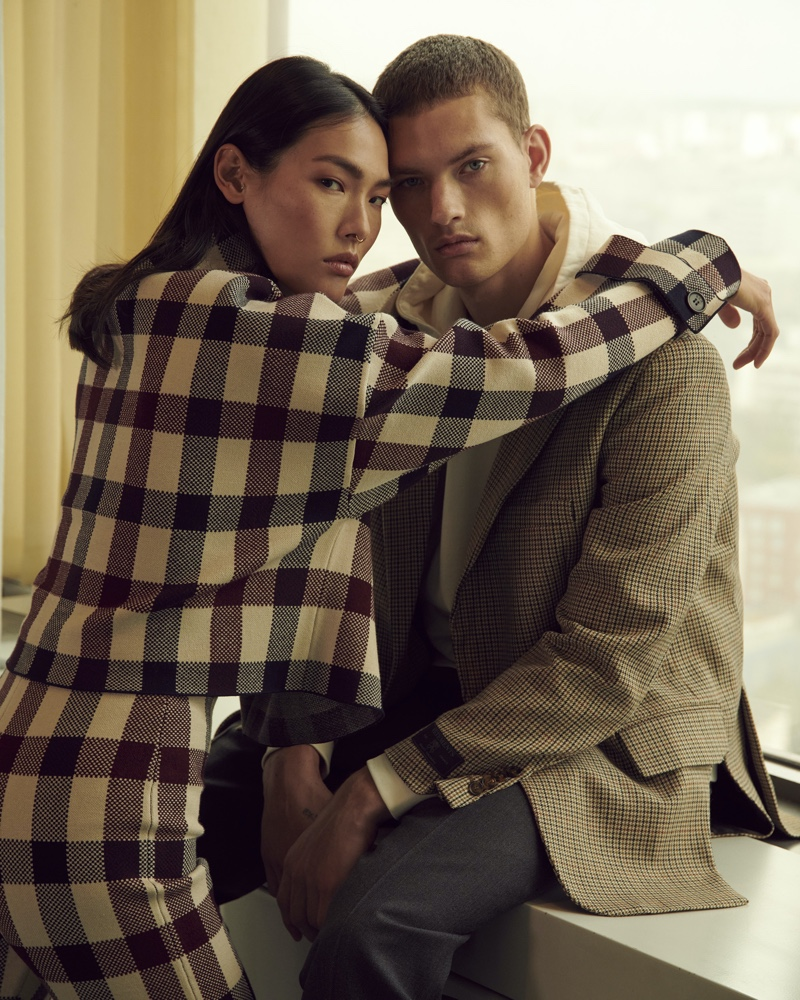 William Dons Sleek Fashions for Stylebop