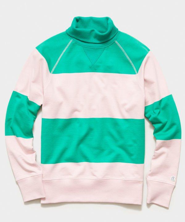 Bold Stripe Turtleneck in Green