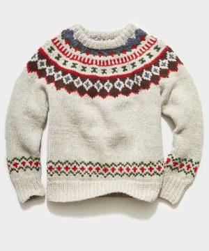 Canada Faire Isle Sweater in Cream
