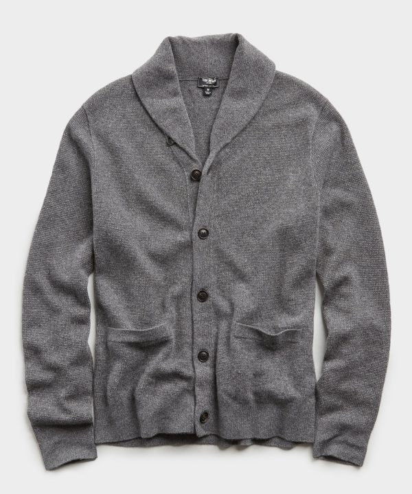 Cashmere Cardigan in Charcoal
