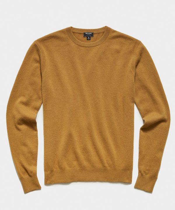 Cashmere Crewneck Sweater in Dark Honey