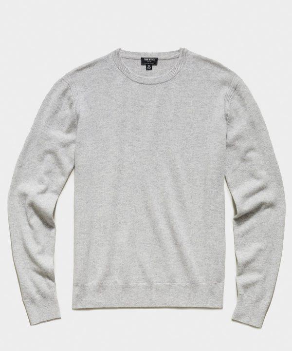 Cashmere Crewneck Sweater in Dove Grey