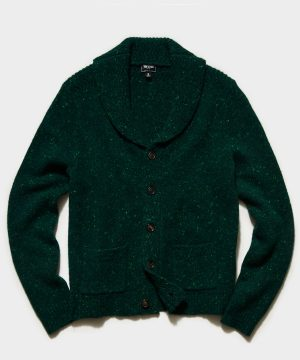 Cashmere Donegal Cardigan in Green