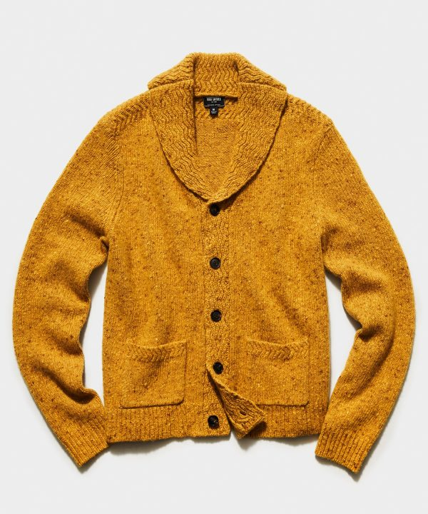 Cashmere Donegal Cardigan in Yellow