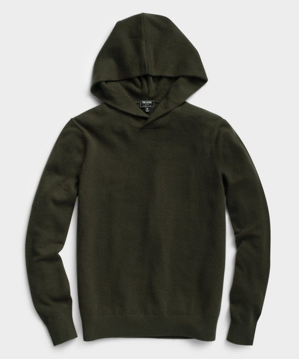 Cashmere Hoodie in Olive