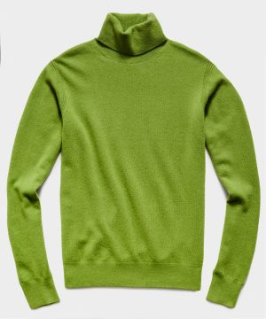 Cashmere Turtleneck in Army Green