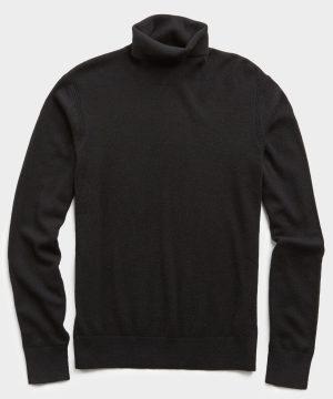 Cashmere Turtleneck in Black