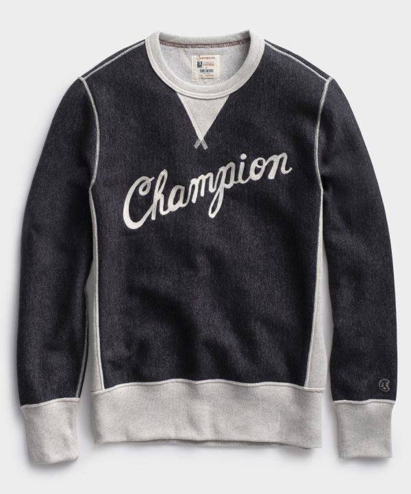 Champion Cursive Sweatshirt in Dark Charcoal