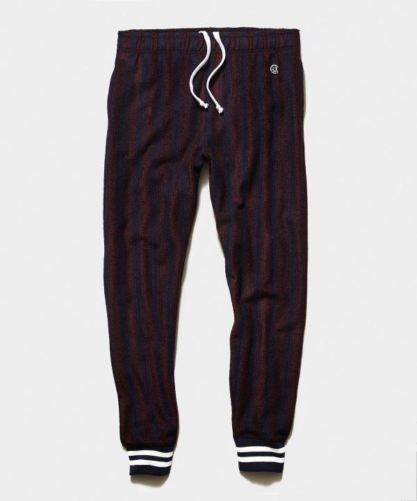 Champion Wool Burgundy Striped Jogger