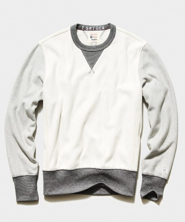 Colorblock Sweatshirt in Alabaster