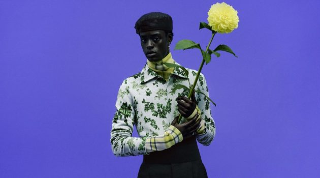 Babacar N'doye stars in Dior Men's spring-summer 2021 campaign.
