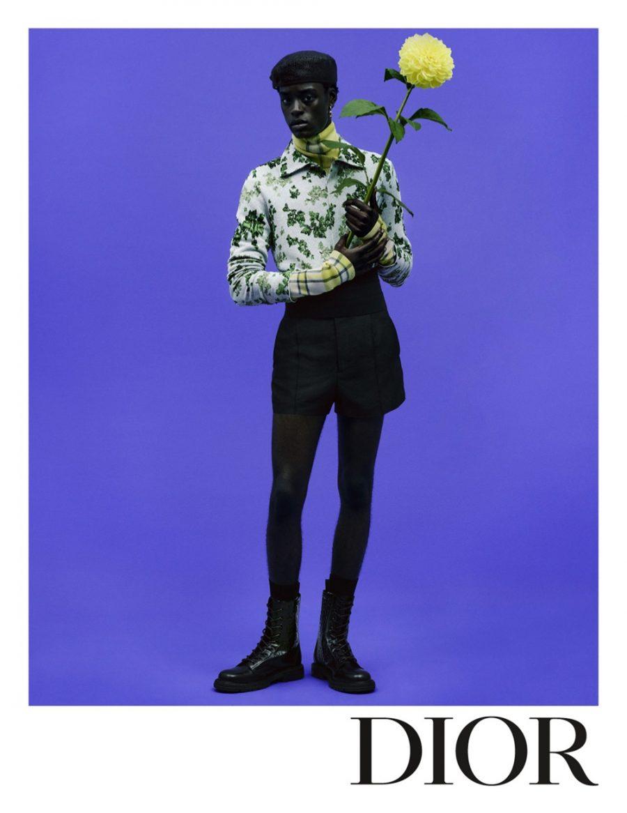 Babacar N'doye stars in Dior Men's spring-summer 2021 campaign.