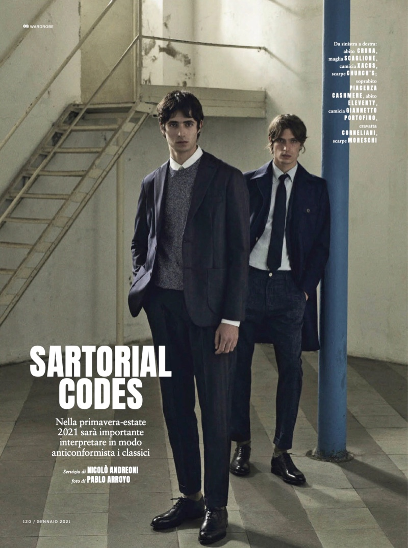 Sartorial Codes: Oscar & Edoardo for GQ Italia