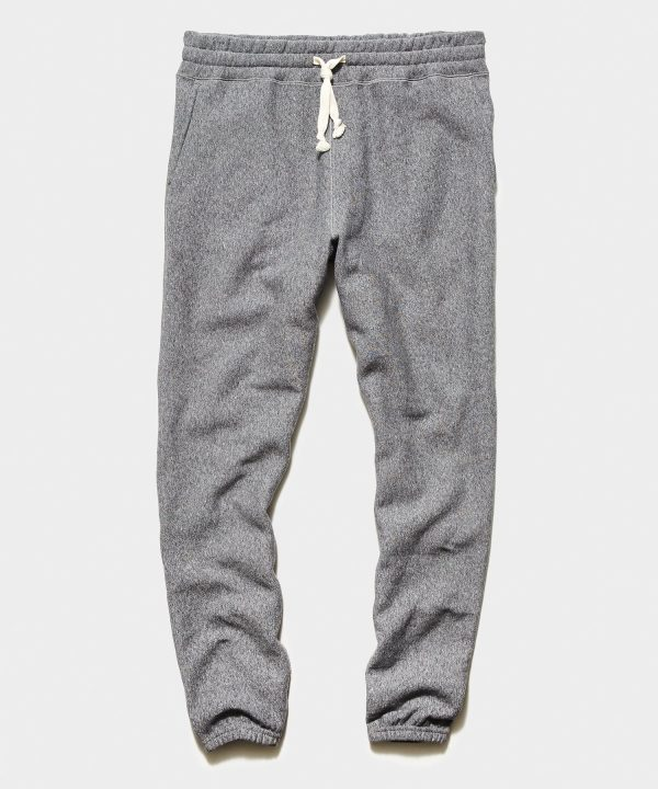 Garment Dyed Fleece Sweatpant in Salt and Pepper
