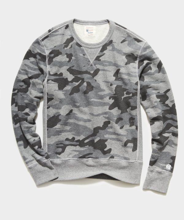 Heather Grey Camo Crewneck Sweatshirt