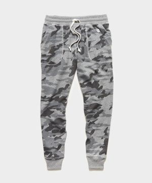 Heather Grey Camo Slim Jogger Sweatpant