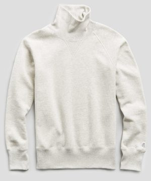 Heavyweight Turtleneck Sweatshirt in Eggshell Mix