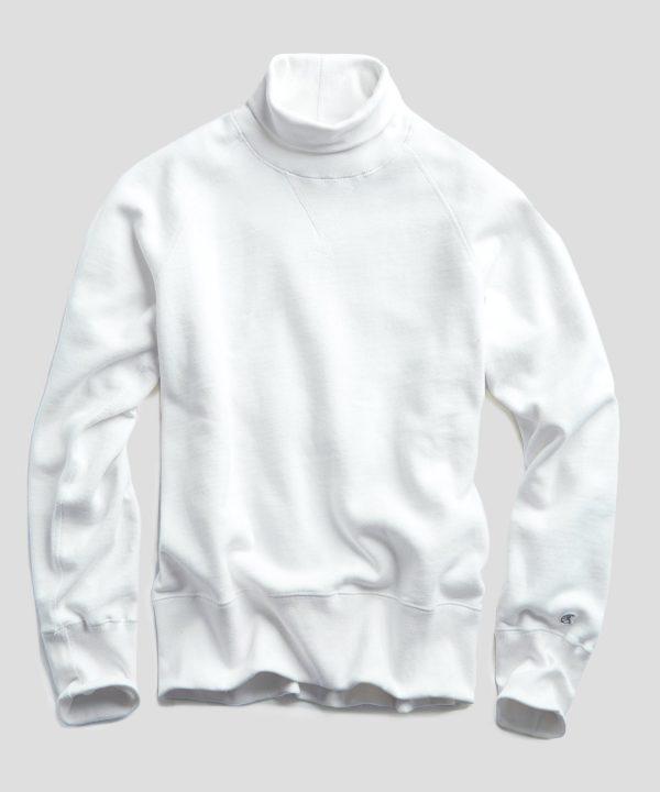 Heavyweight Turtleneck Sweatshirt in White
