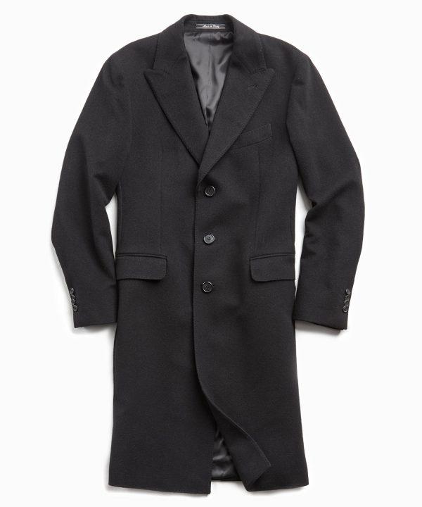 Italian Cashmere Topcoat in Black