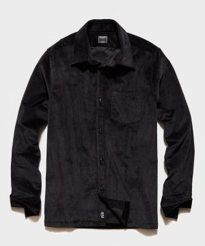 Italian Corduroy Overshirt in Charcoal