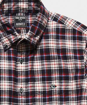 Italian Red Tartan Flannel Button Down Shirt