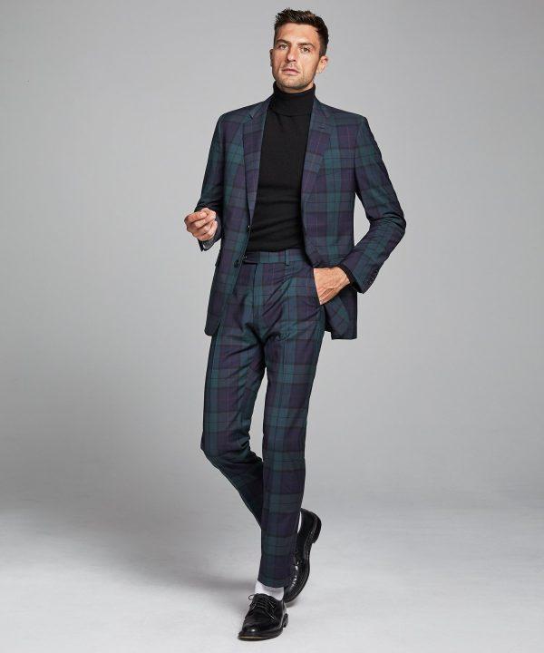 Italian Wool Blackwatch Suit Jacket