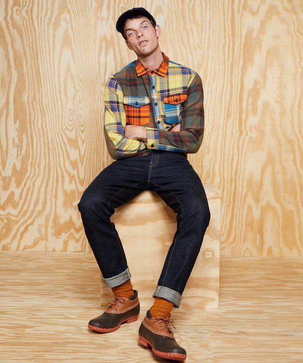 L.L.Bean x Todd Snyder Heavyweight Plaid Shirt in Colorblock Multi