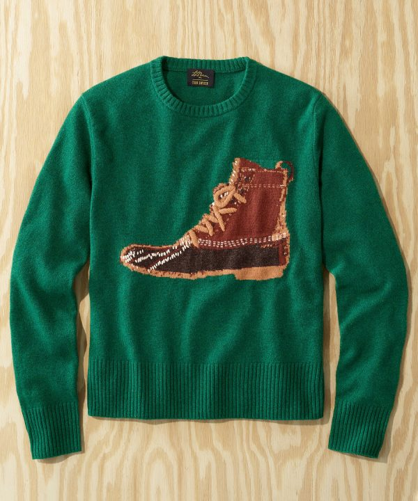 L.L.Bean x Todd Snyder Heritage Crewneck Sweater in Green