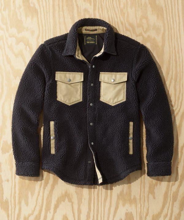 L.L.Bean x Todd Snyder Hi-Pile Sherpa Shirt Jacket in Black