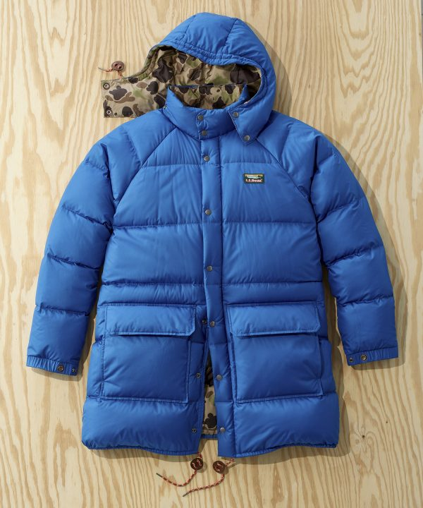 L.L.Bean x Todd Snyder Long Puffer Jacket in Ocean