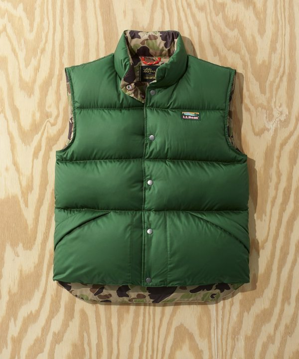 L.L.Bean x Todd Snyder Puffer Vest in Forest Green