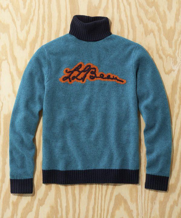 L.L.Bean x Todd Snyder Script Sweater in Blue