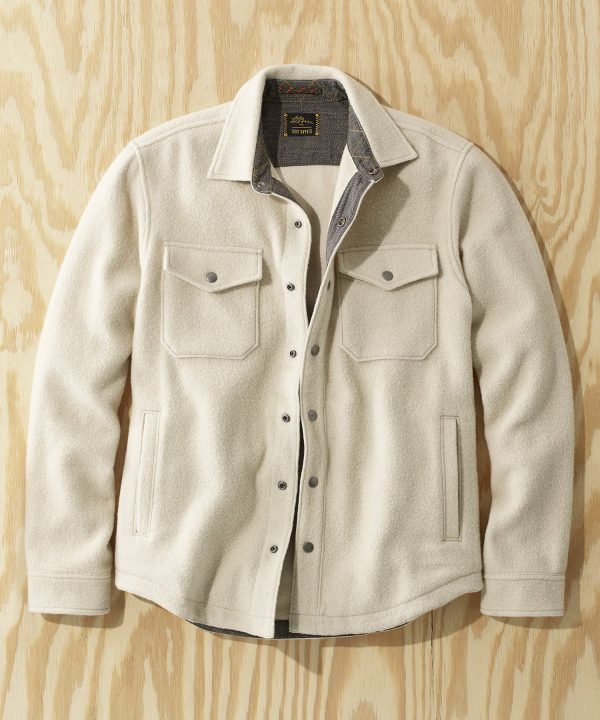 L.L.Bean x Todd Snyder Wool Blend Shirt Jacket in Sail
