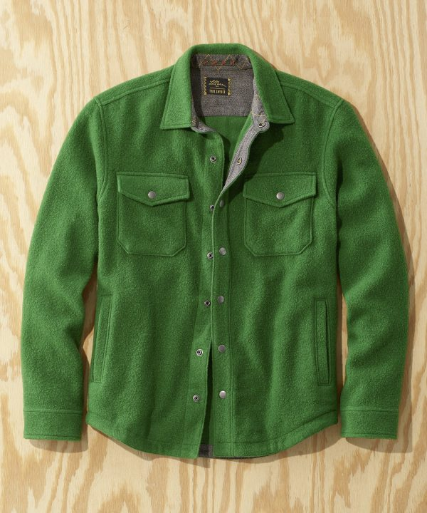L.L.Bean x Todd Snyder Wool Blend Shirt Jacket in Treeline