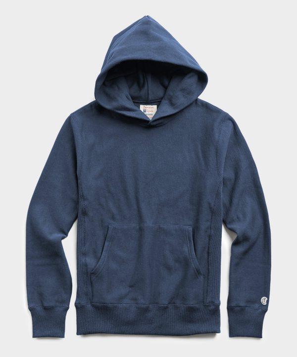 Lightweight Popover Hoodie Sweatshirt in Hale Navy