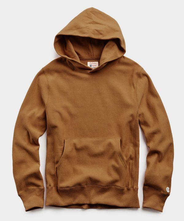 Lightweight Popover Hoodie Sweatshirt in Pecan