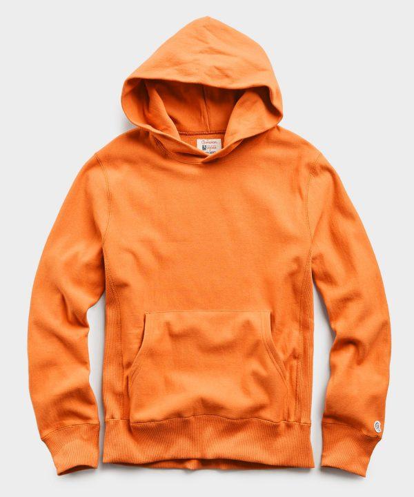 Lightweight Popover Hoodie Sweatshirt in Signal Orange