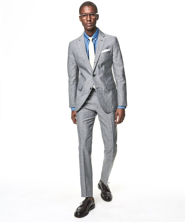 Made in the USA Sutton Linen Jacket in Grey