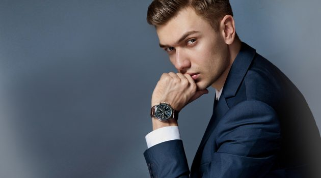 Male Model Wearing Watch