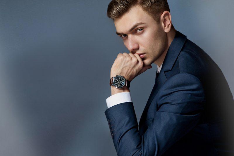 Male Model Wearing Watch