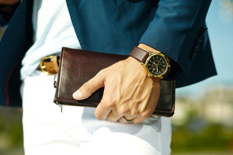 Man Wearing Watch Crop