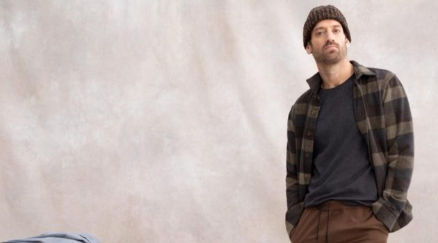 Matthew Avedon dons an essential winter look from Banana Republic.