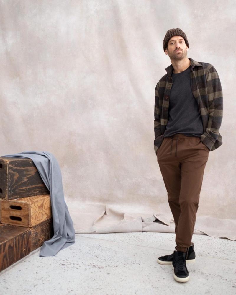 Matthew Avedon dons an essential winter look from Banana Republic.